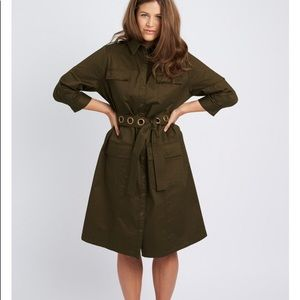 Anna Scholz Stretch Chino Utility Dress